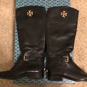 Tory Burch Adeline 20mm riding boot black